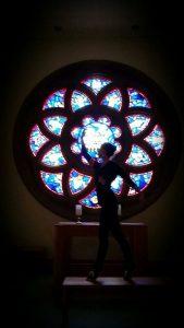 Biz at eastvold chapel at PLU