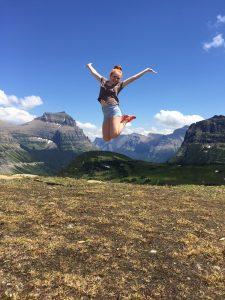 Meredith Girls at top of Glacier National Park 6900 ft elev 1