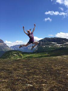 Meredith Girls at top of Glacier National Park 6900 ft elev 2