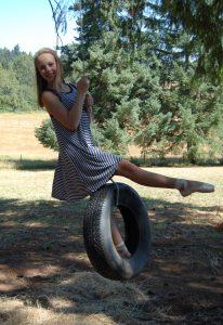 Stella at farm in Oregon 13th bday 1